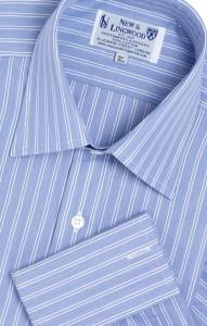 Jermyn Street: Stribet blå herreskjorte