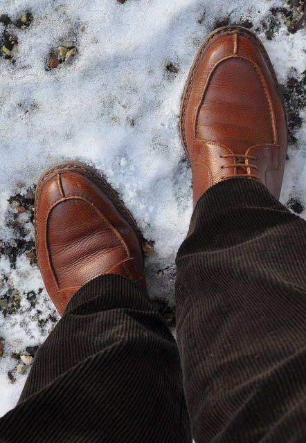 split-toes sko