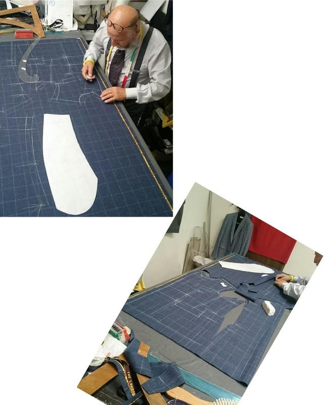 Skrædder-Guida-laver-mønster-til-skræddersyet-jakkesæt-1