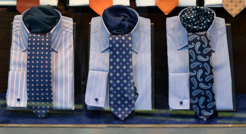 Mønstrede slips og skjorter
