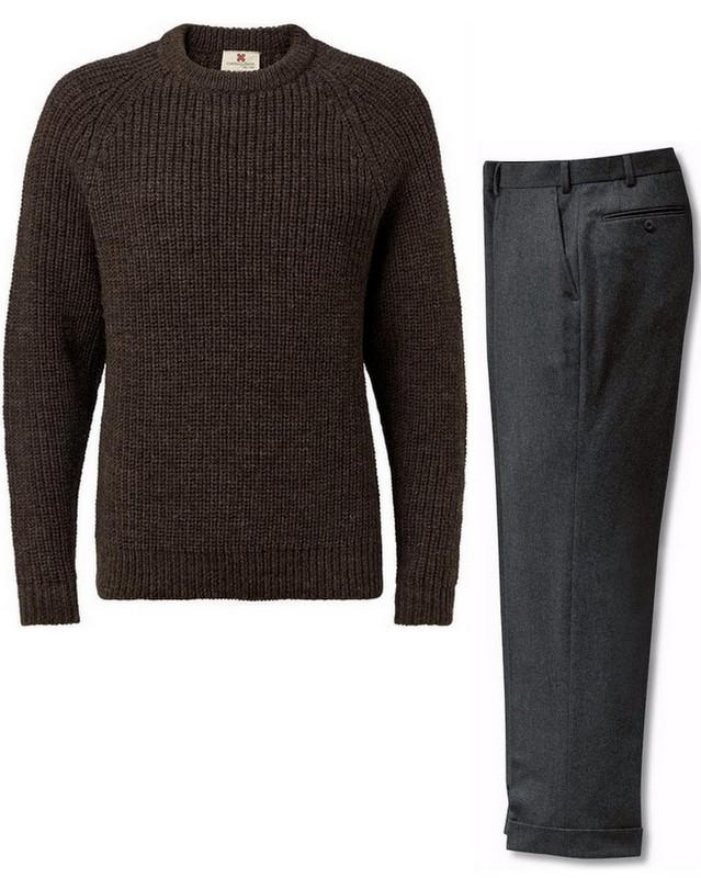 Sweater-og-flannelsbukser-til-mænd-Stiljournalen