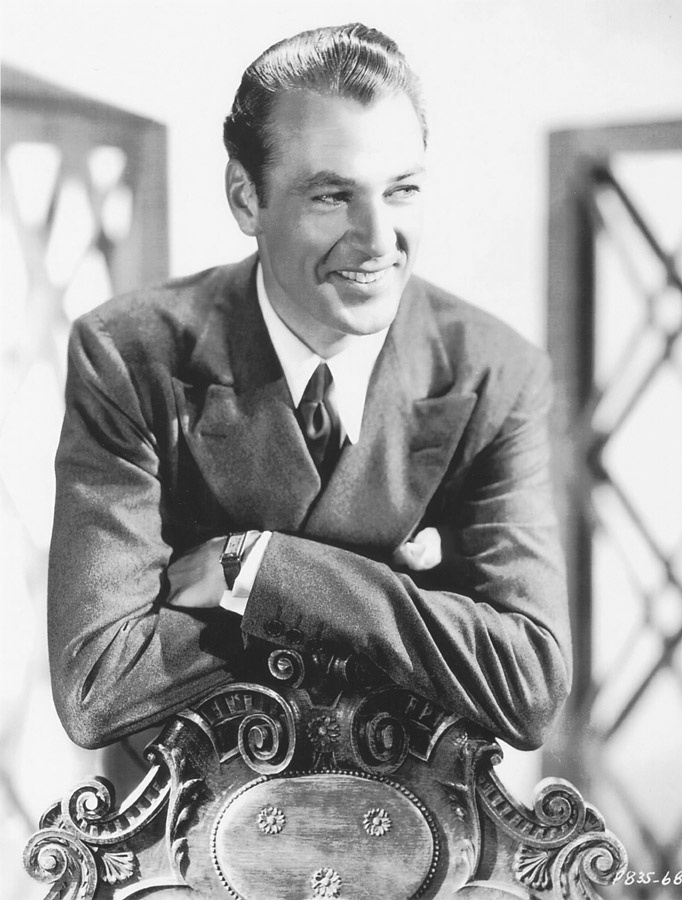Gary Cooper med dress-ur