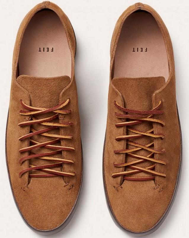 Sneakers fra Feit i ruskind