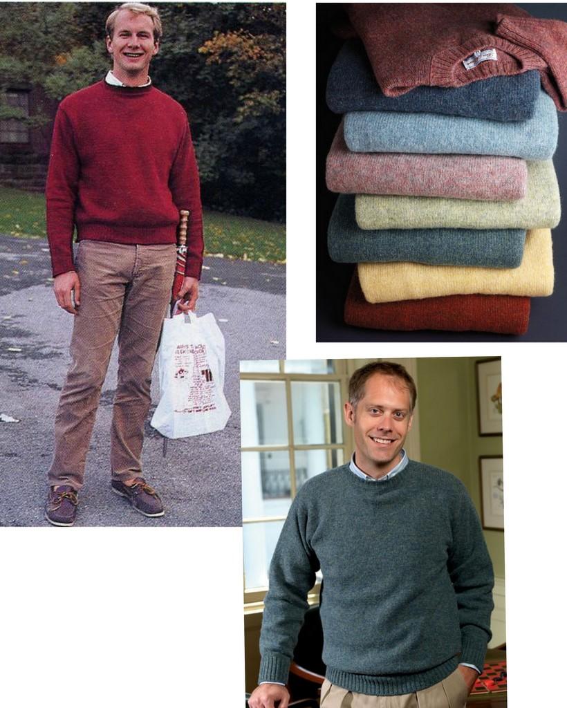 preppy striktrøjer og shetlandssweater