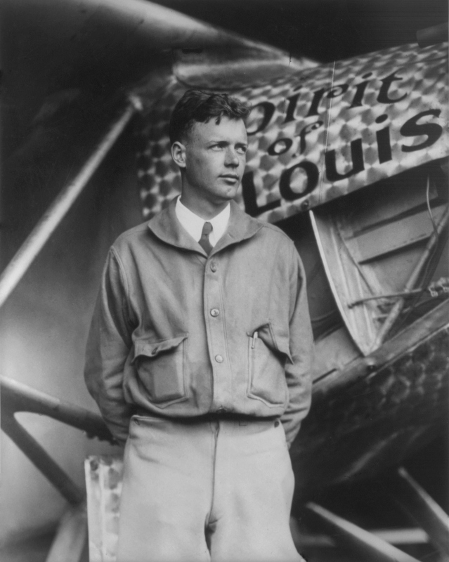 Charles_Lindbergh_og_the_Spirit_of_Saint_Louis_Pilotjakke_Stiljournalen