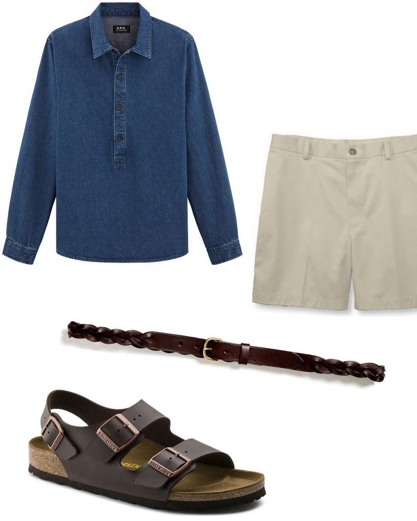 shorts til mænd og tøjstil
