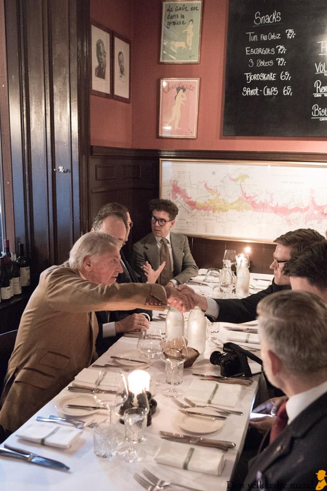 klassisk herremode på restaurant Sans Souci