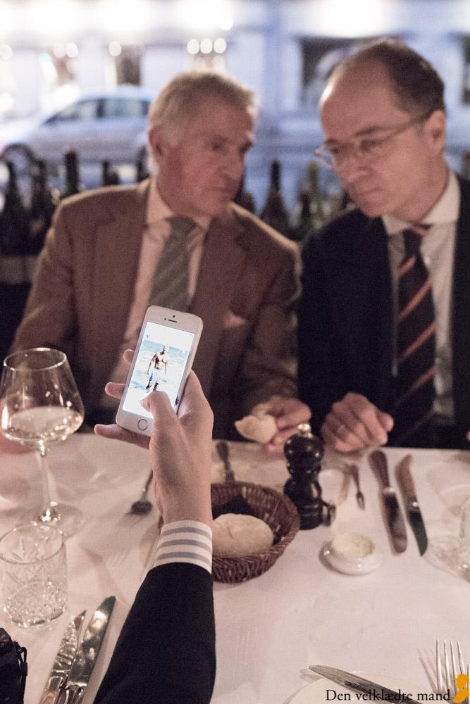 selskab på restaurant sans souci