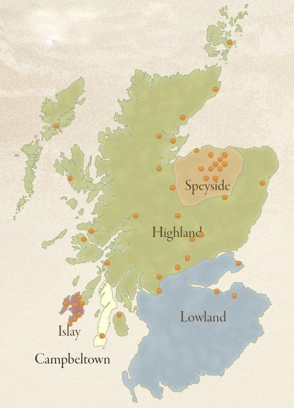 skotsk whisky regioner