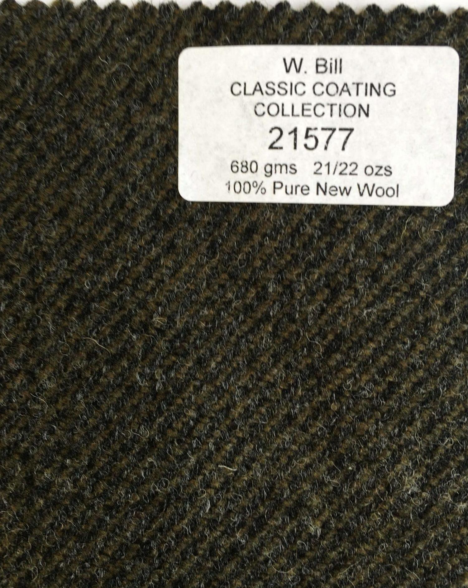 stof til flaskegrøn frakke