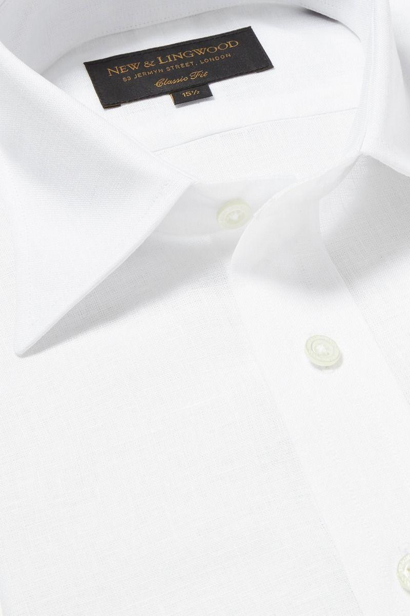 stof til skjorter hvid poplin