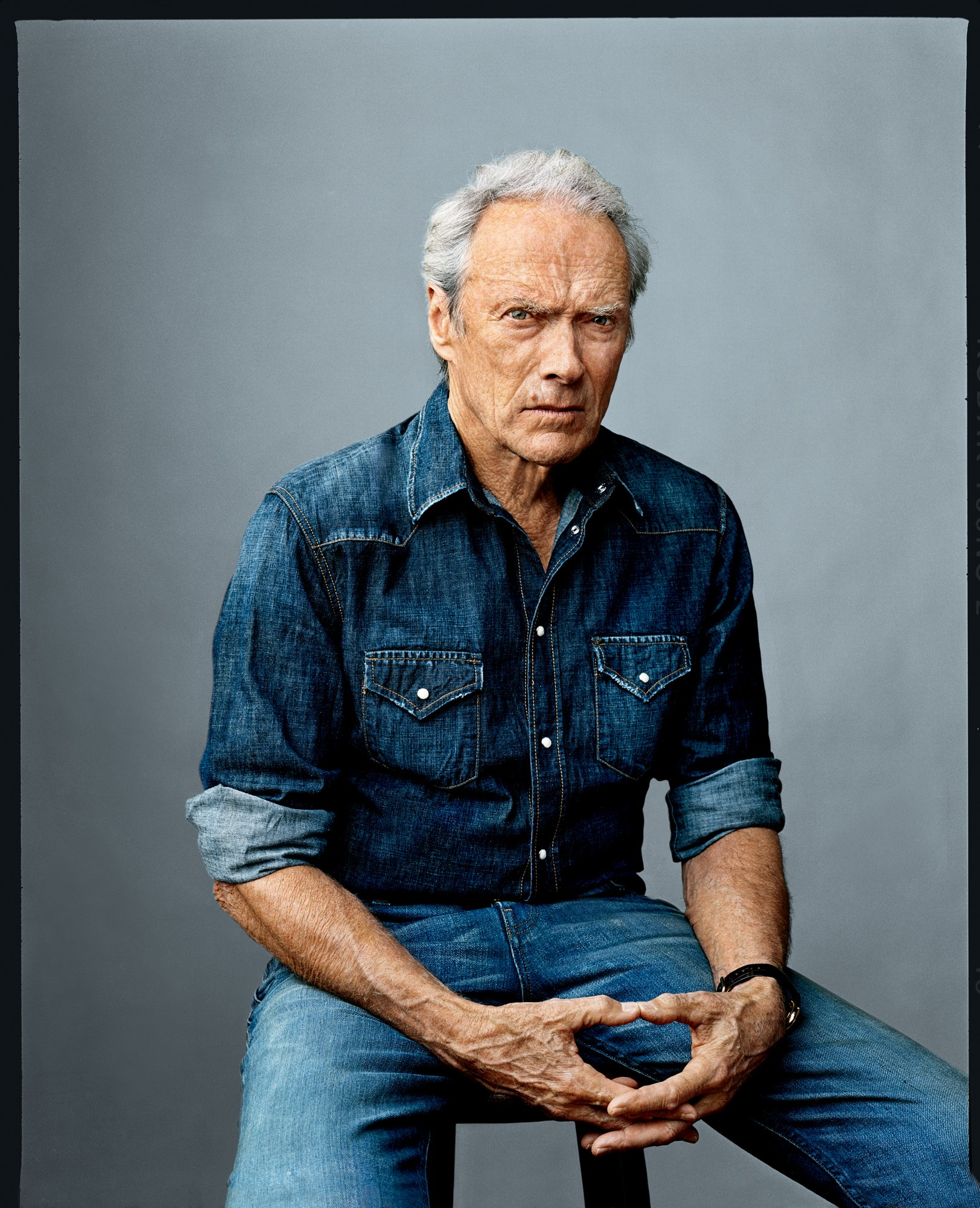 clint eastwood i double denim