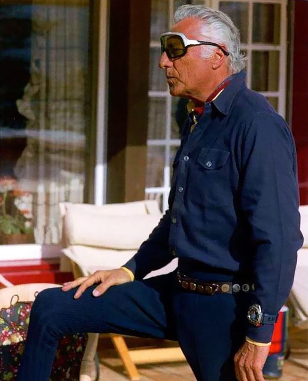 Gianni Agnelli deouble denim
