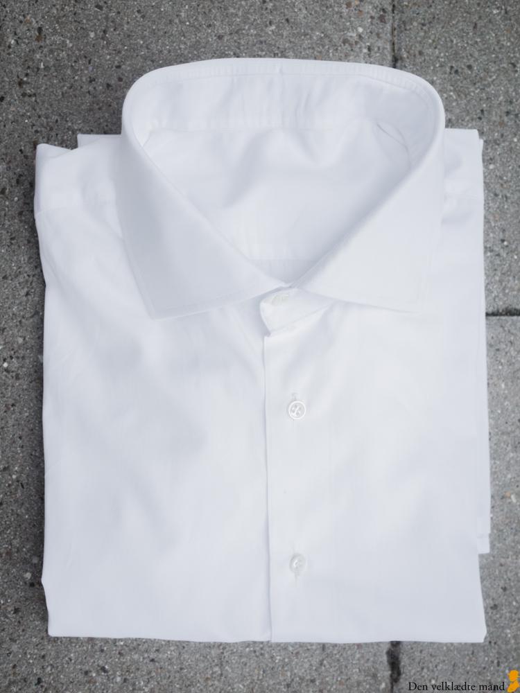 klassiske skjorter til mænd, hvid, poplin