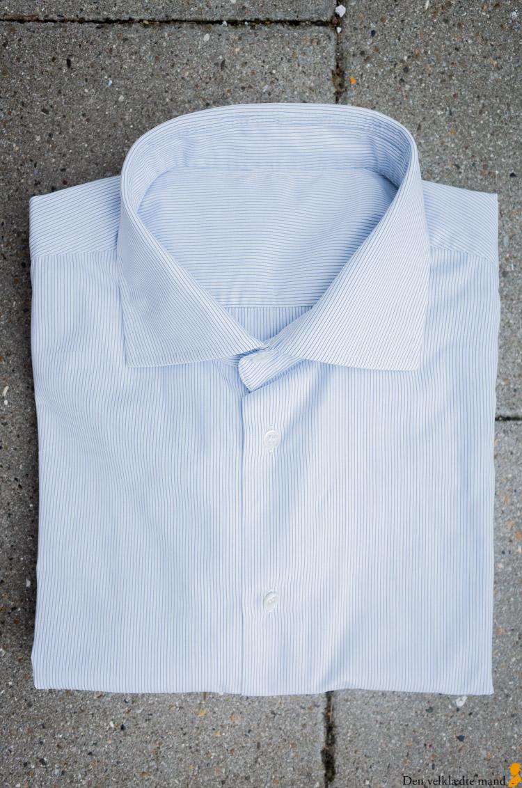 klassiske skjorter til mænd - blåstribet, business