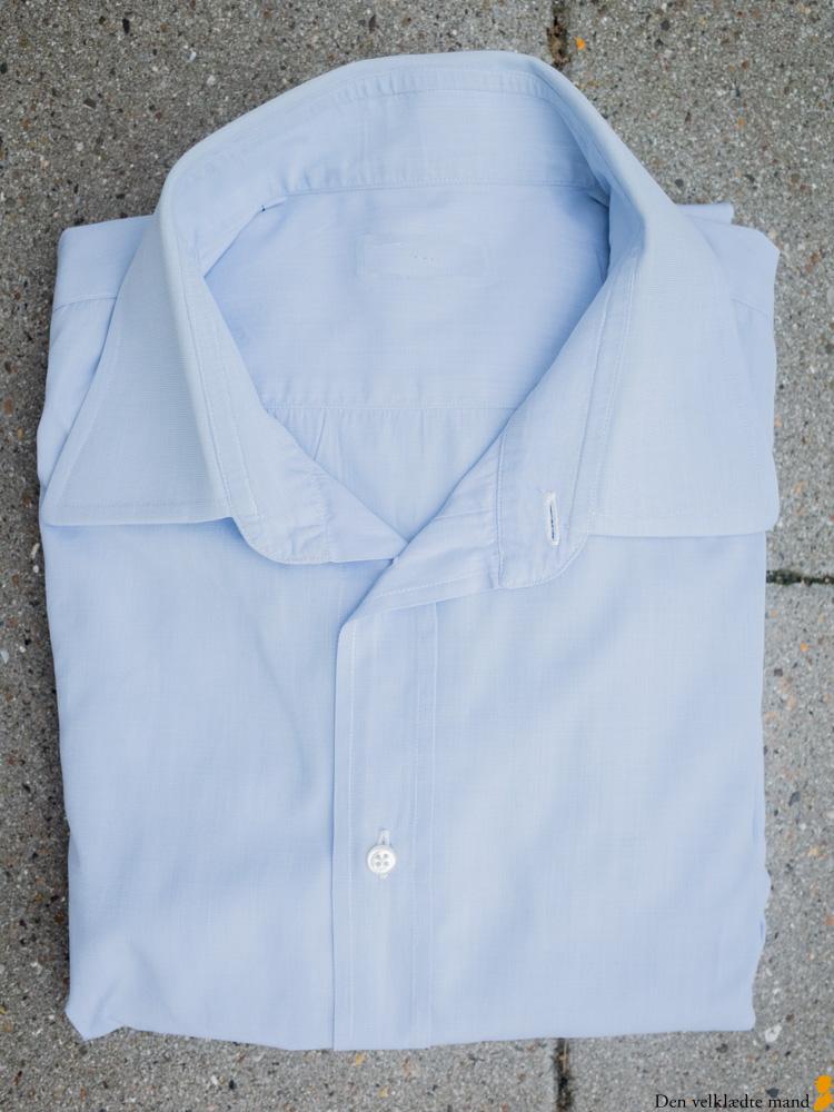 klassiske skjorter til mænd - lyseblå, business