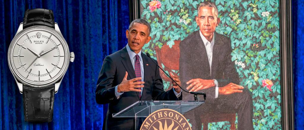 Rolex Cellini ur på Barack Obama