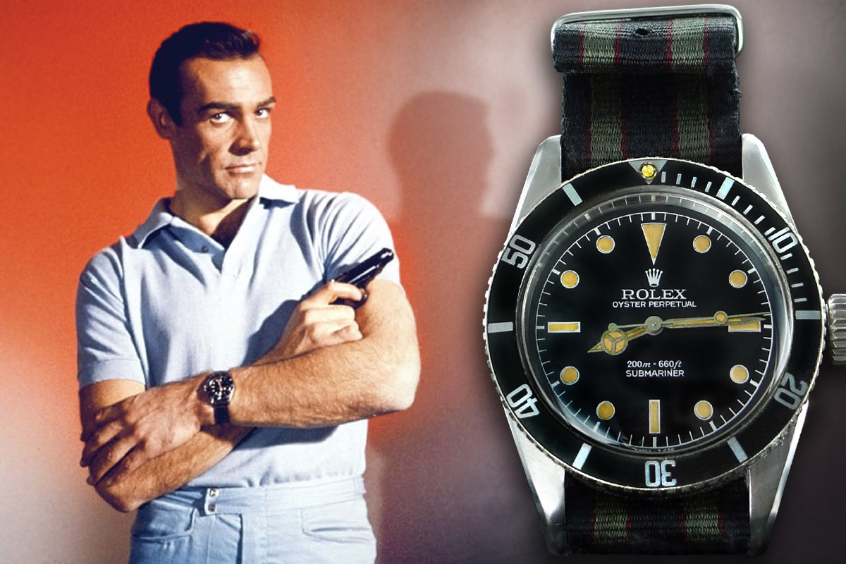 Rolex Submariner in Dr No, James Bond, Sean Connery