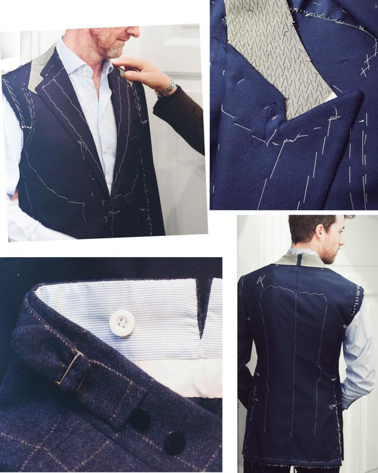 Skræddersyede jakkesæt undervejs