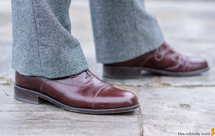 Håndlavede sko i oxford-model fra Edo i Slagelse
