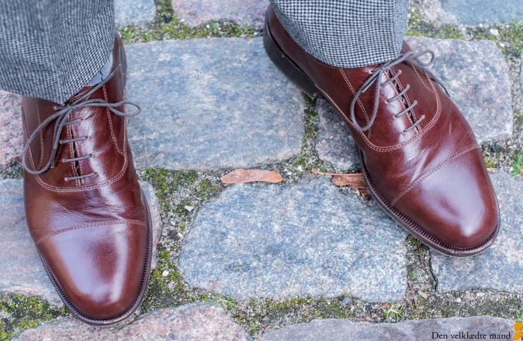 Håndlavede sko efter mål i oxford-design fra Edo i Slagelse.