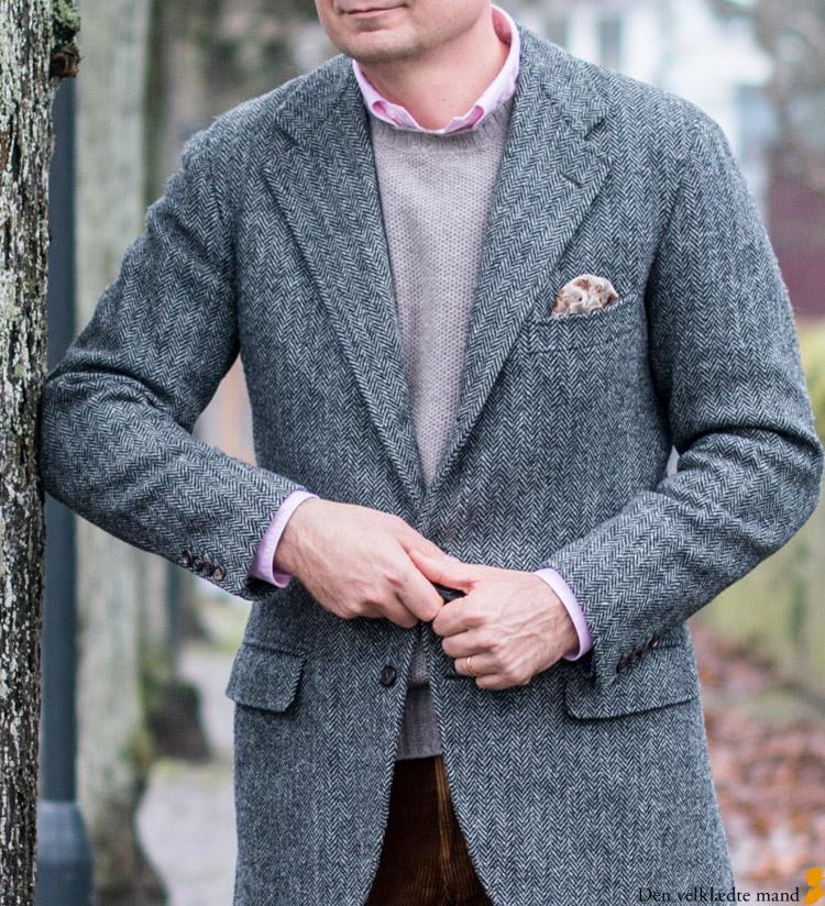 harris tweed jakke skræddersyet