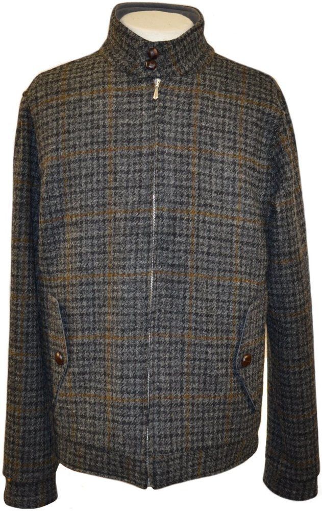 harris tweed lumber jacket