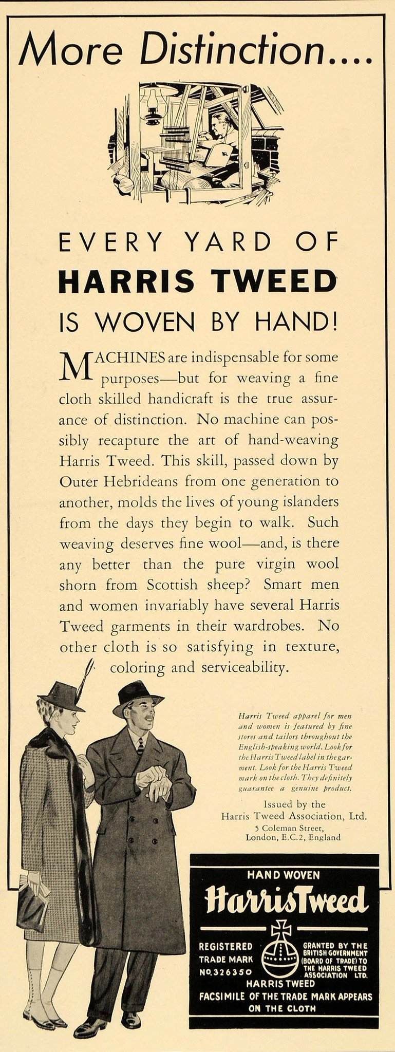 harris tweed reklame