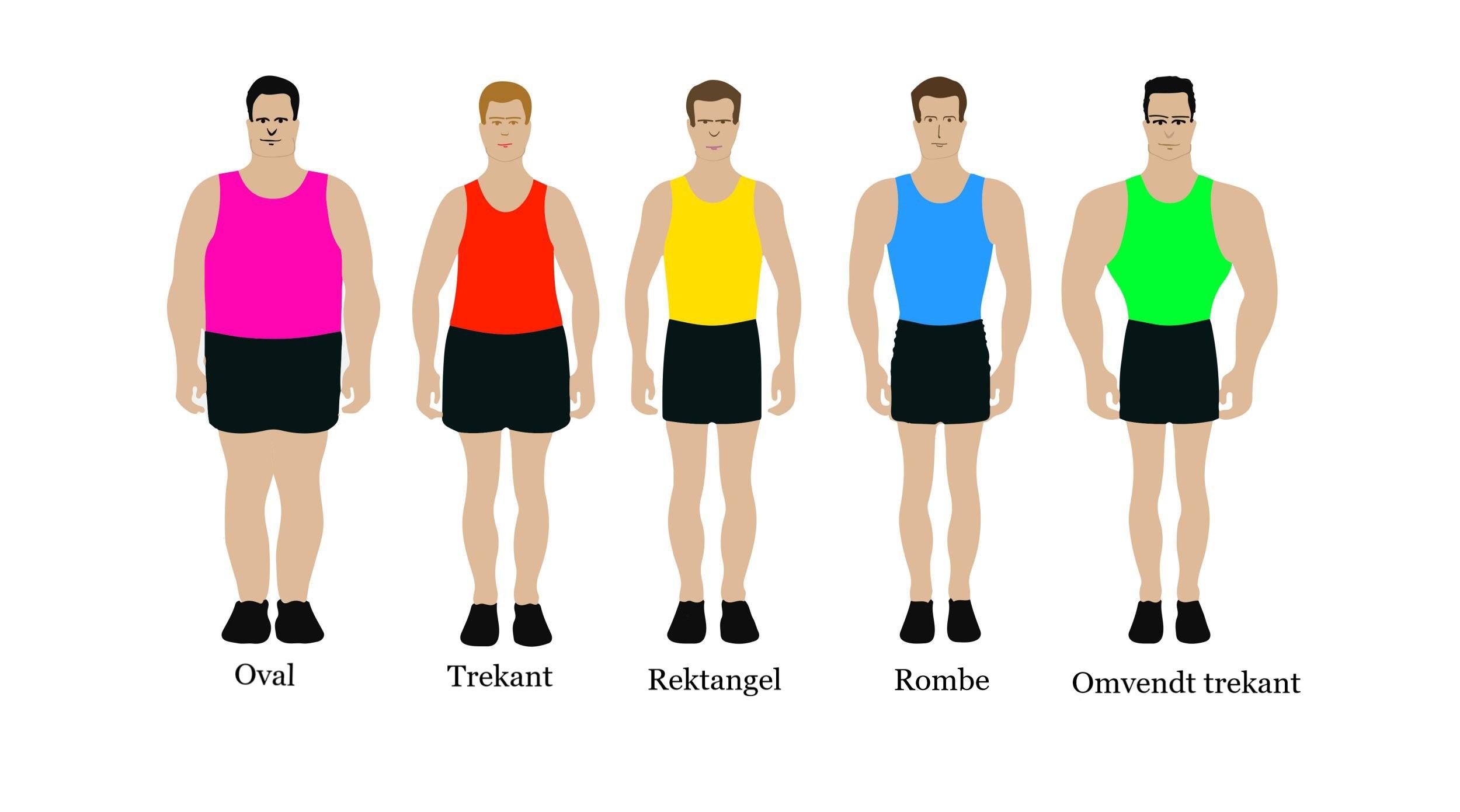 Mænds kropstyper og det rette tøj