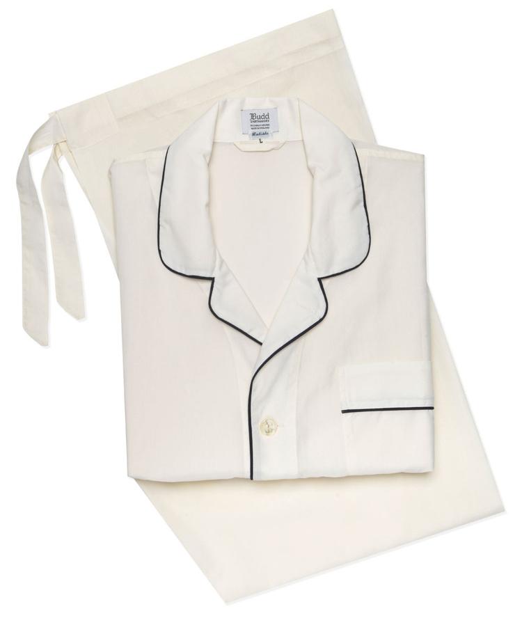 pyjamas til mænd hvid