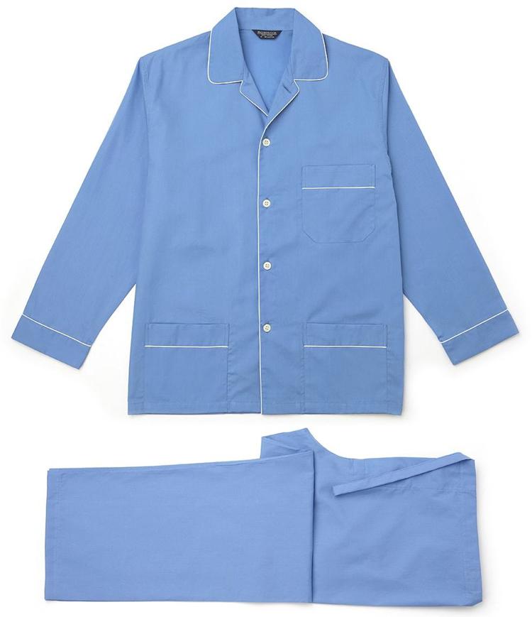 pyjamas til mænd blå