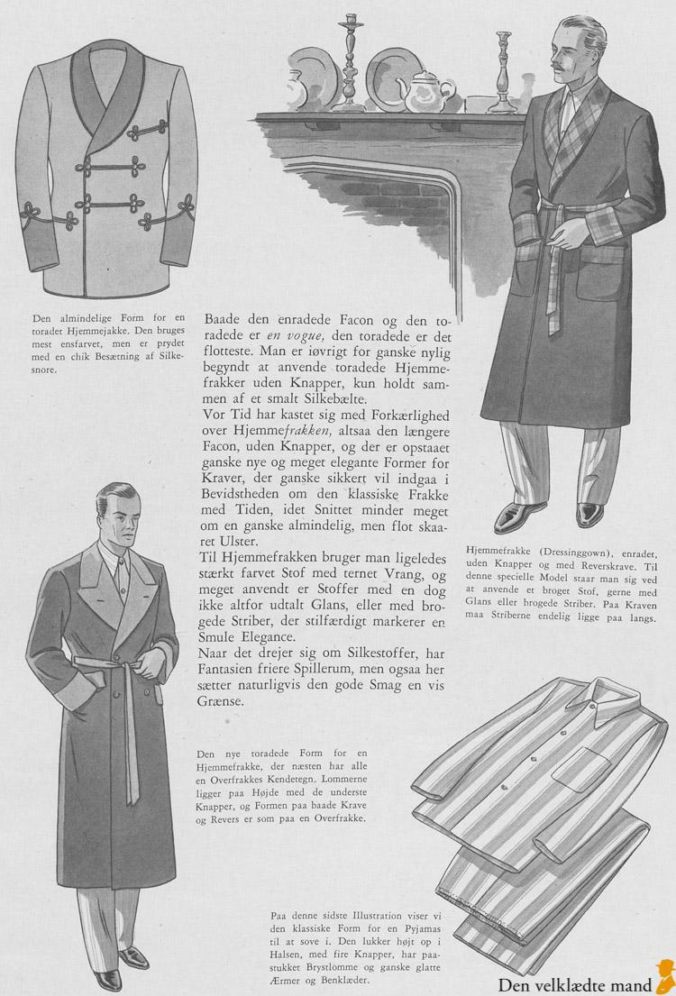 slåbrok, hjemmejakke i Illum katalog 1934