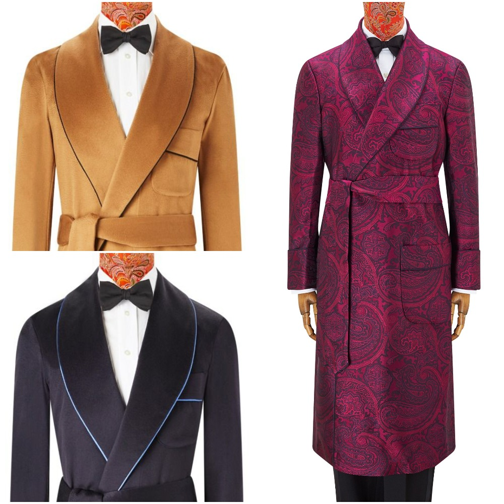 Slåbrokker - dressing gowns - hos New & Lingwood Jermyn Street i London.