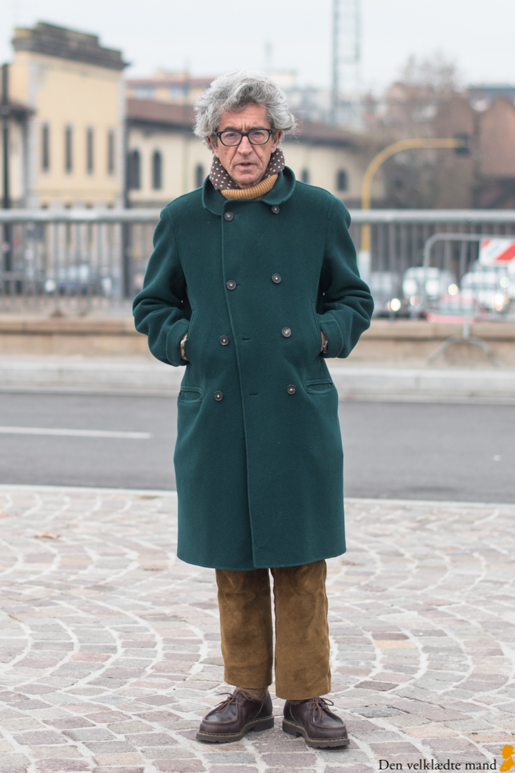 grønne frakker til mænd