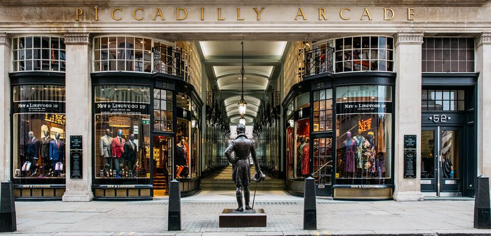 Piccadilly Arcade set fra Jermyn Street