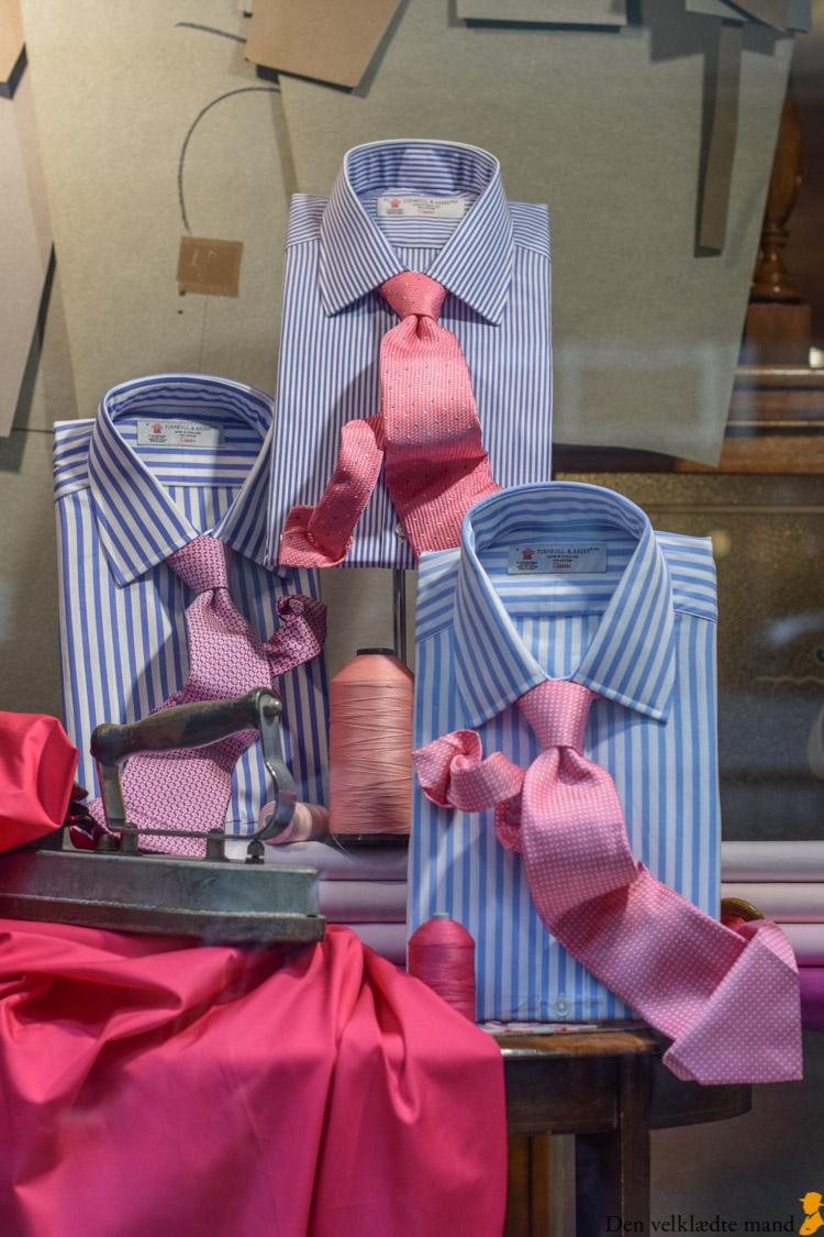 skræddersyede skjorter hos turnbull & asser i jermyn street