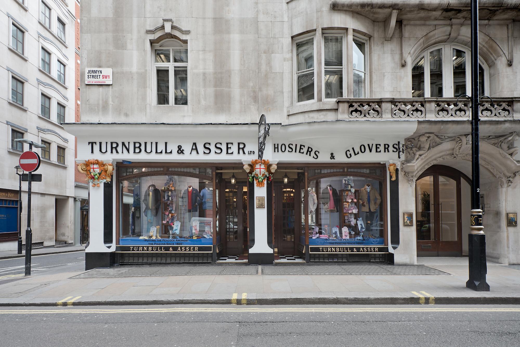 Turnbull & Assers berømte facade ud mod Jermyn Street