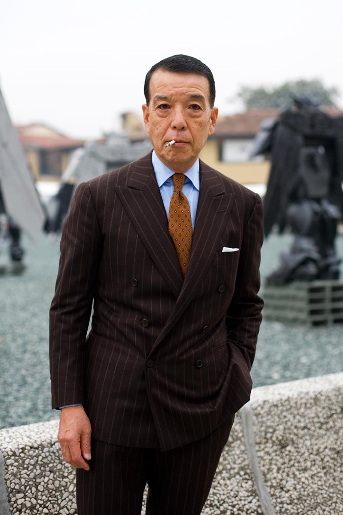 Yukio Akamine dobbeltradet jakkesæt