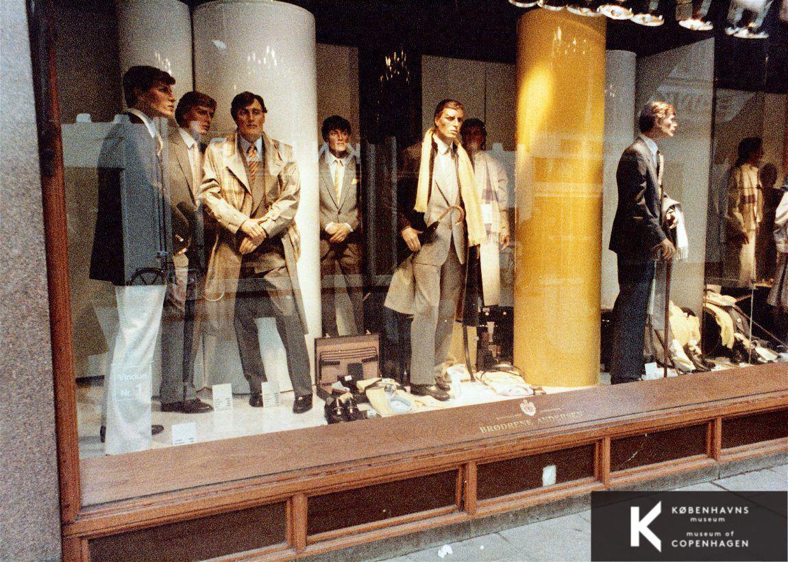 vinduesudstilling butik 1984 herremode