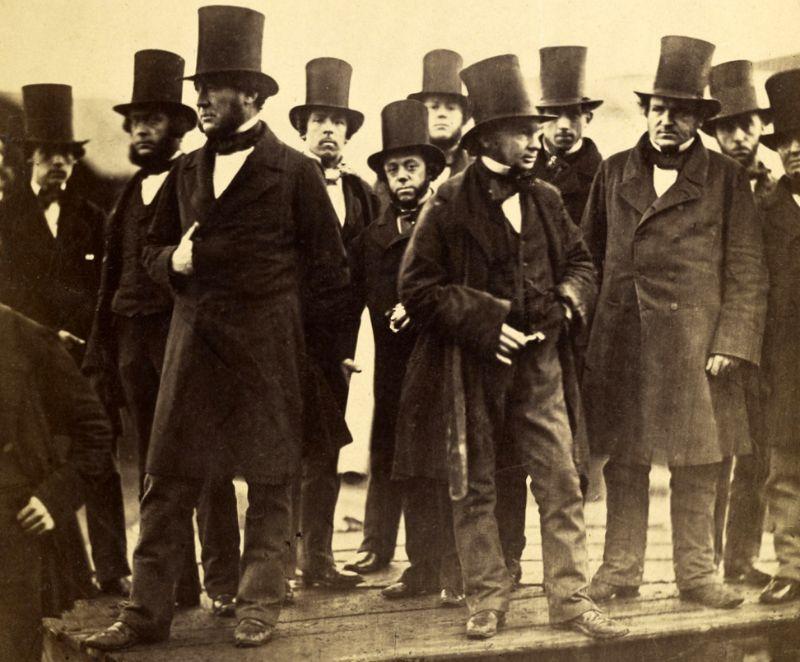 høj hat 1850'erne
