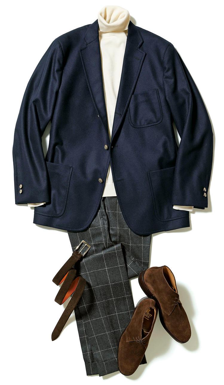 blå blazer herretøj
