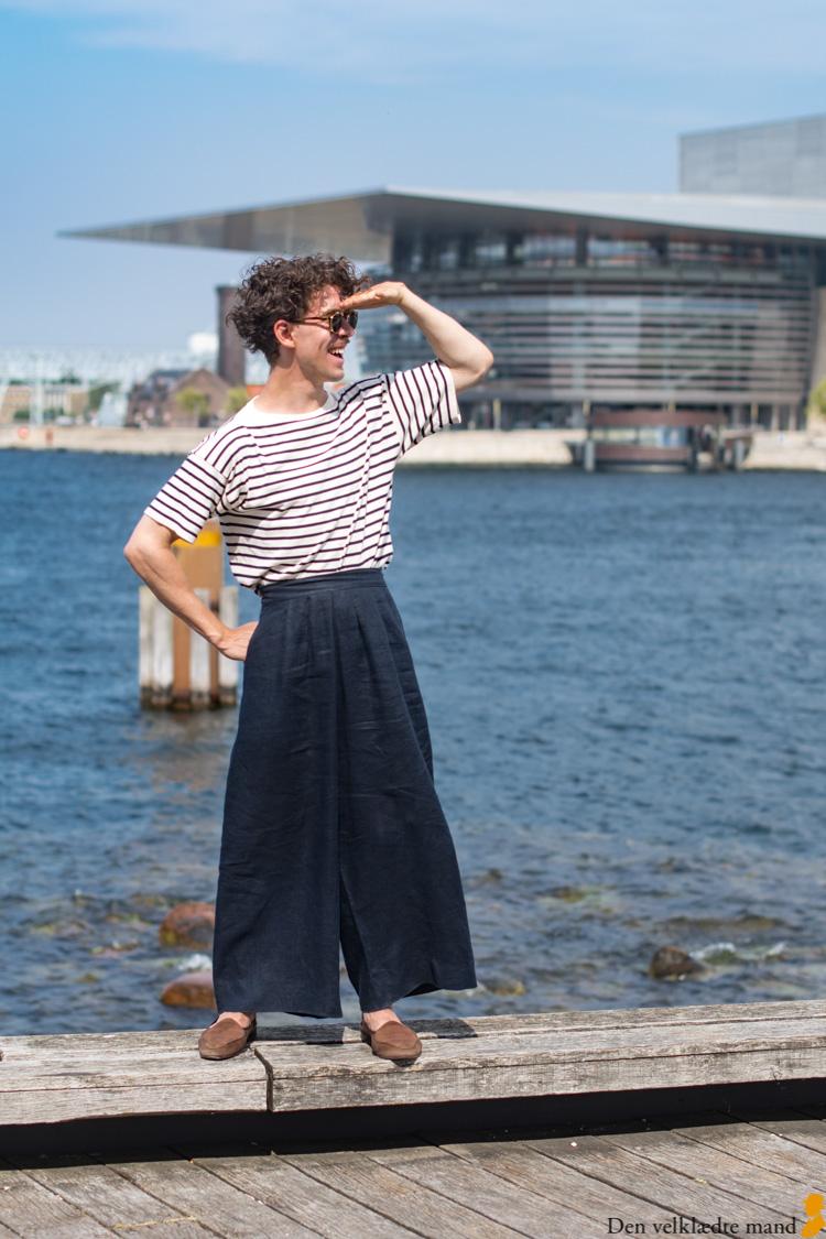 løse bukser og trøje til mænd