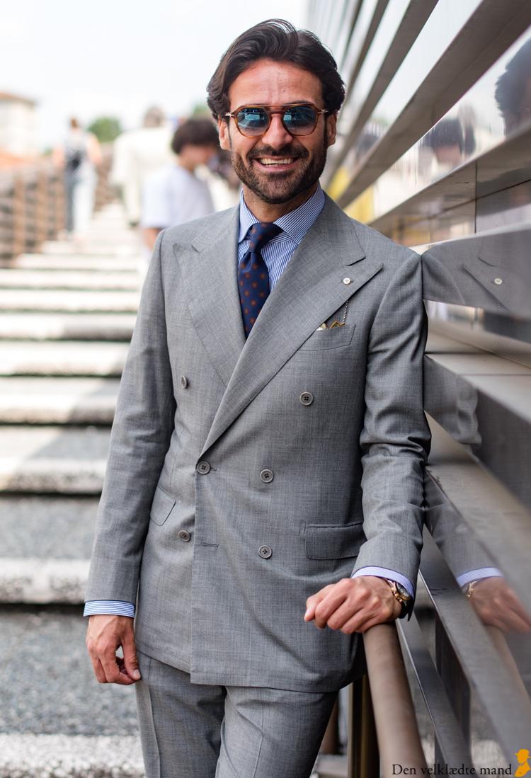 giorgio giangiulio dobbeltradet gråt jakkesæt