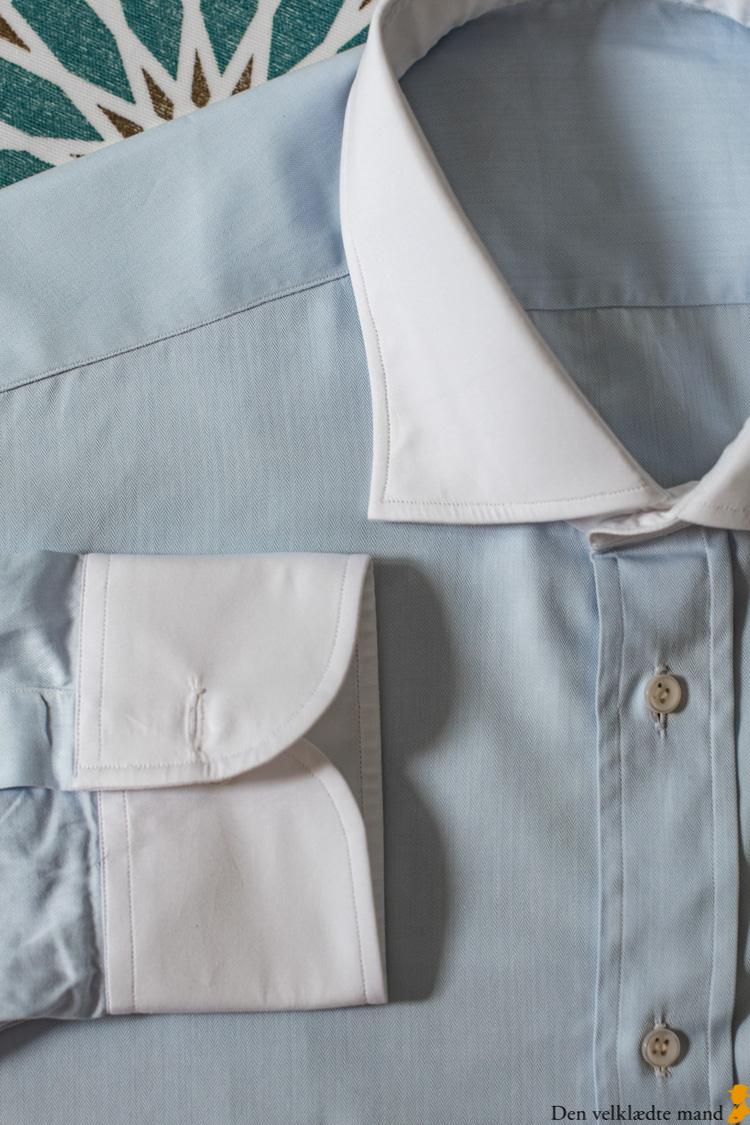 skræddersyede skjorter kontrastflip
