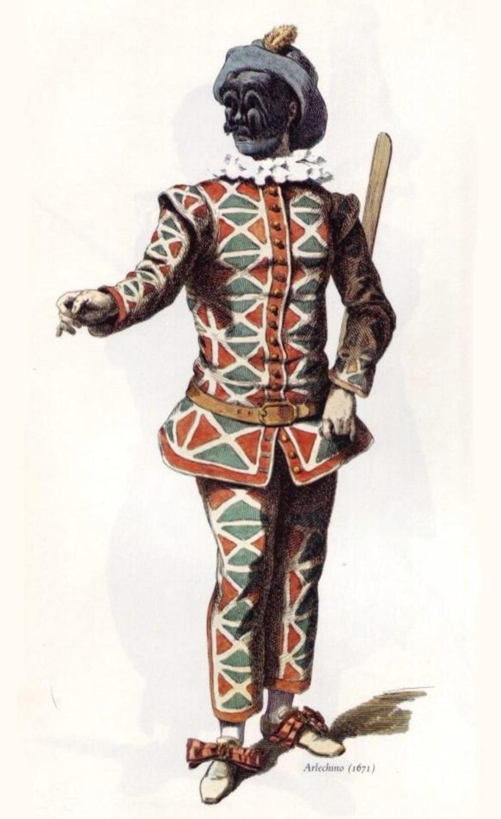harlekin kostume historisk