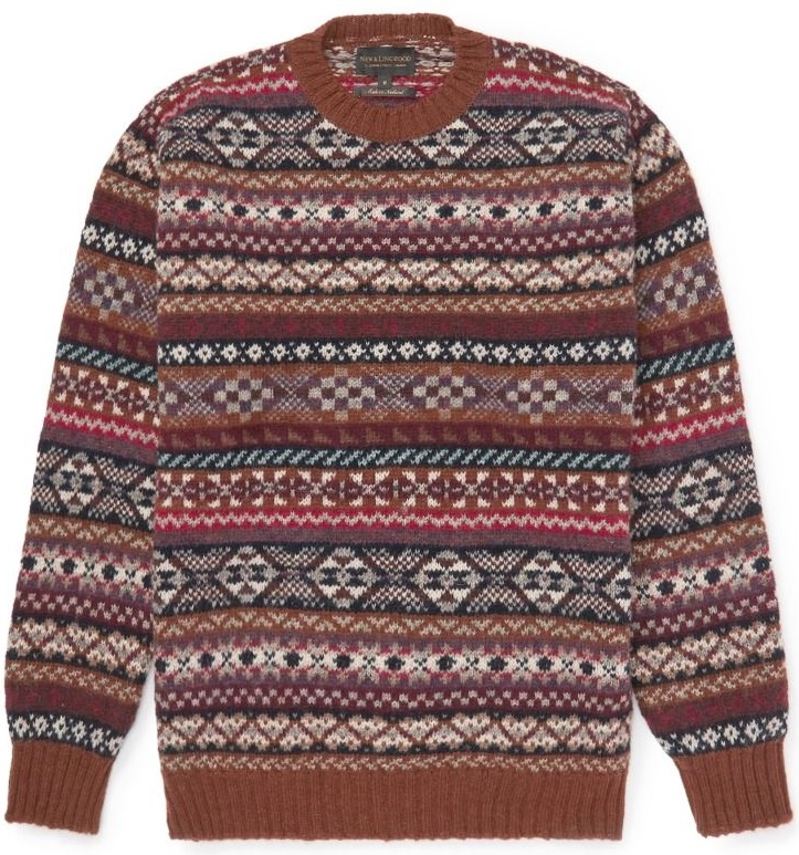fair isle sweater til mænd vinter 2019 og 2020