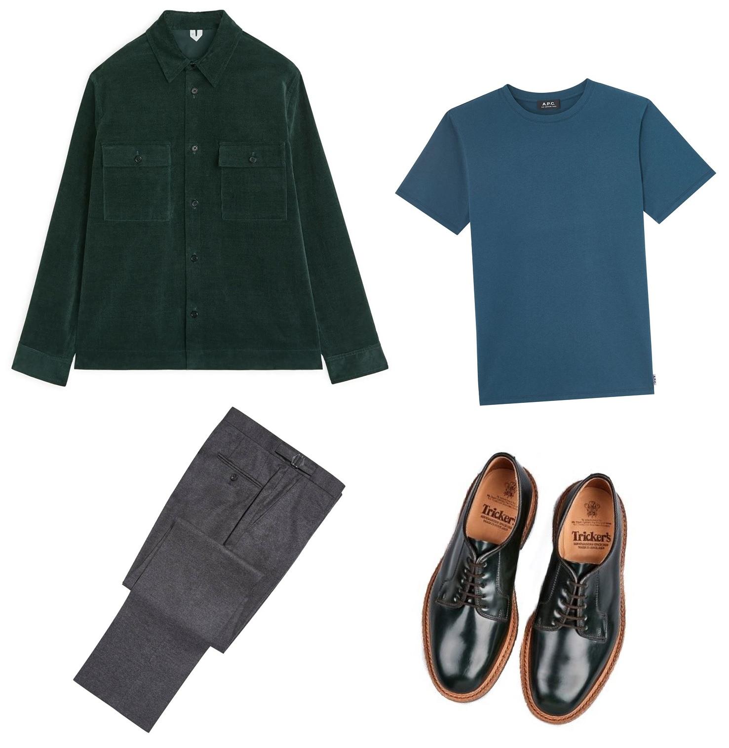 overskjorte overshirt outfit til mænd