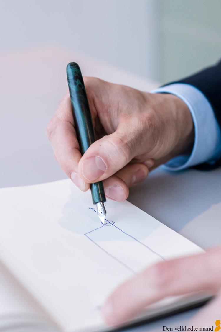 håndlavet fyldepen taasinge pennedrejeri