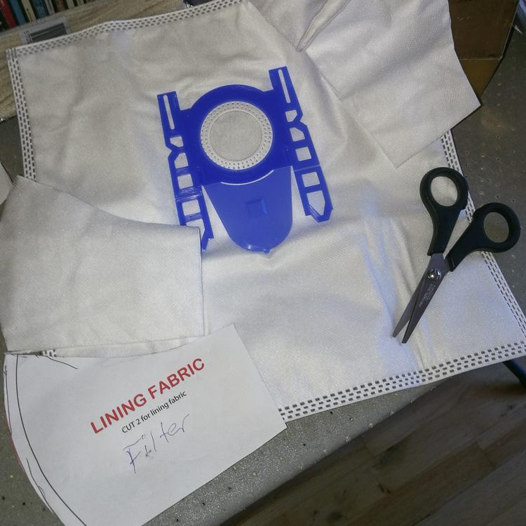 coronamaske støvsugerpose