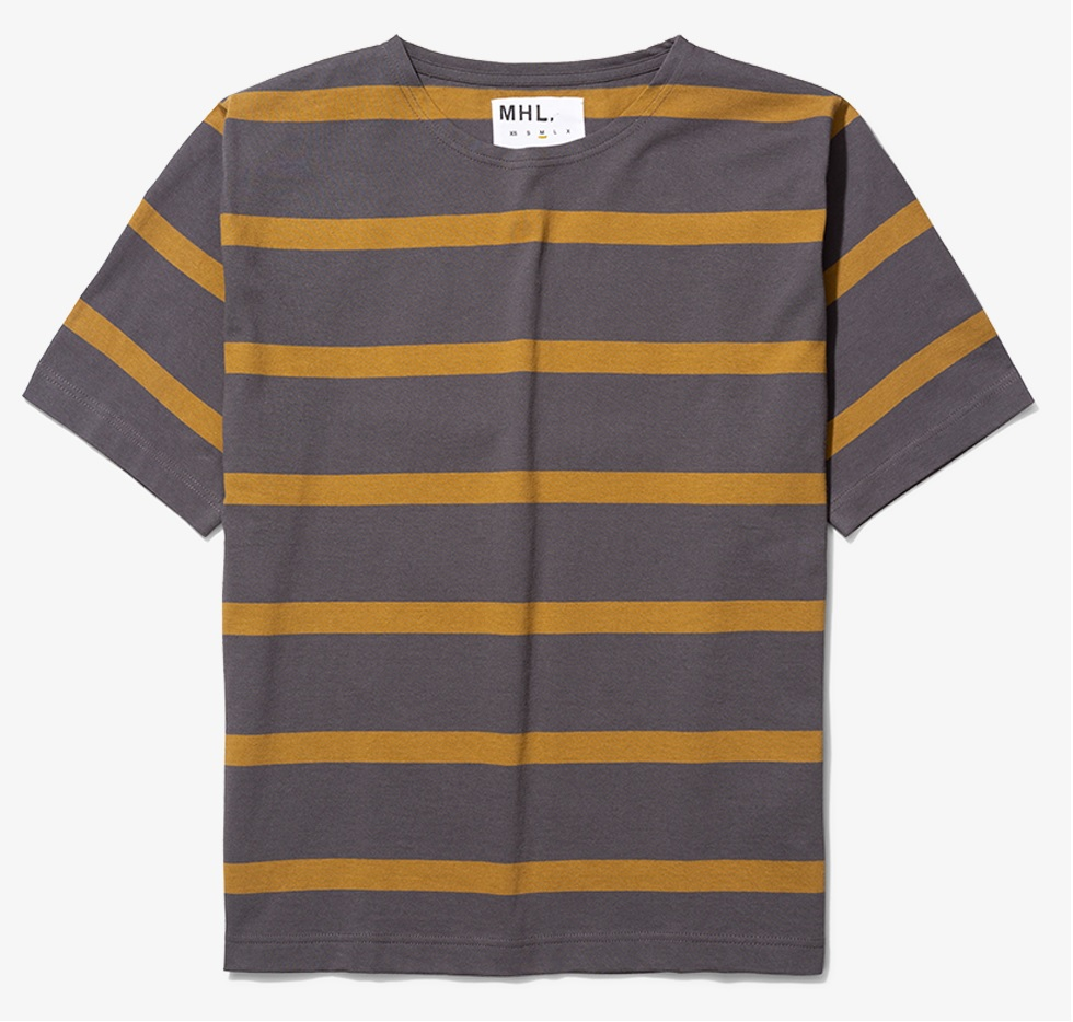 sommertøj stribet T-shirt mænd norse projects